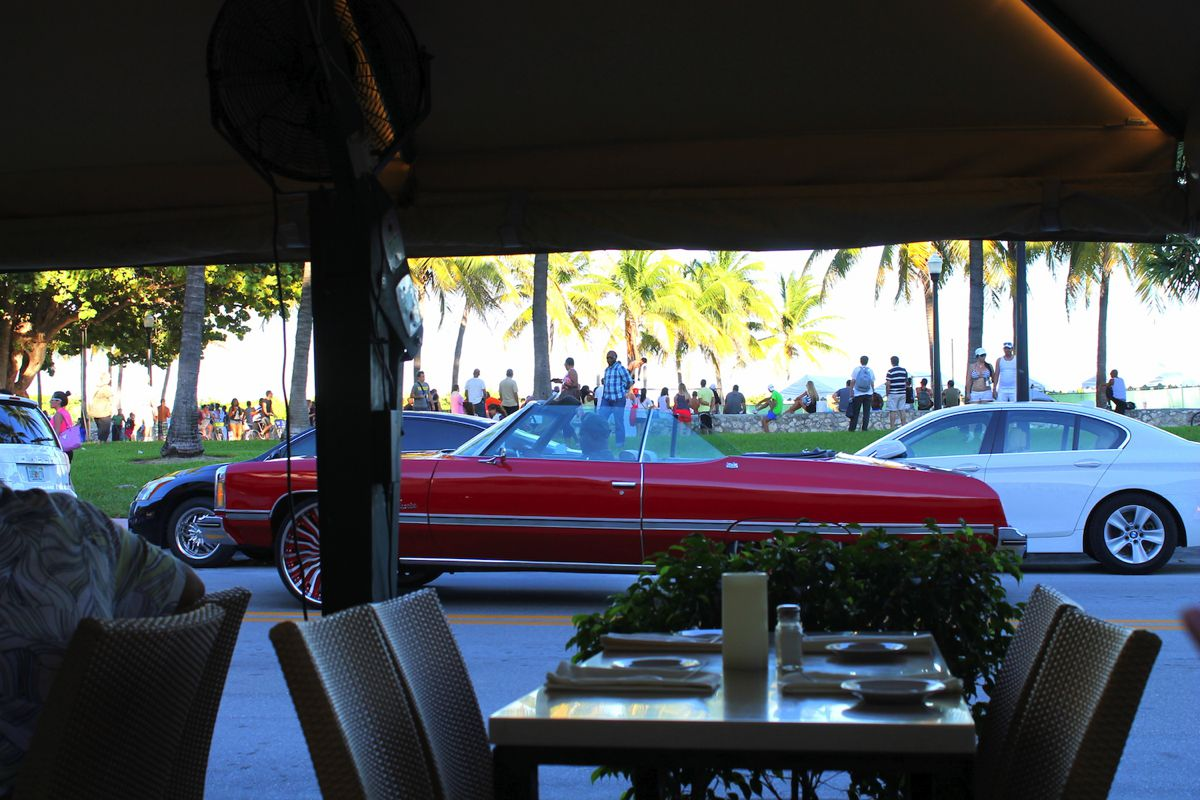 People watching in Miami. Muscle, Beach and Cars. (4)