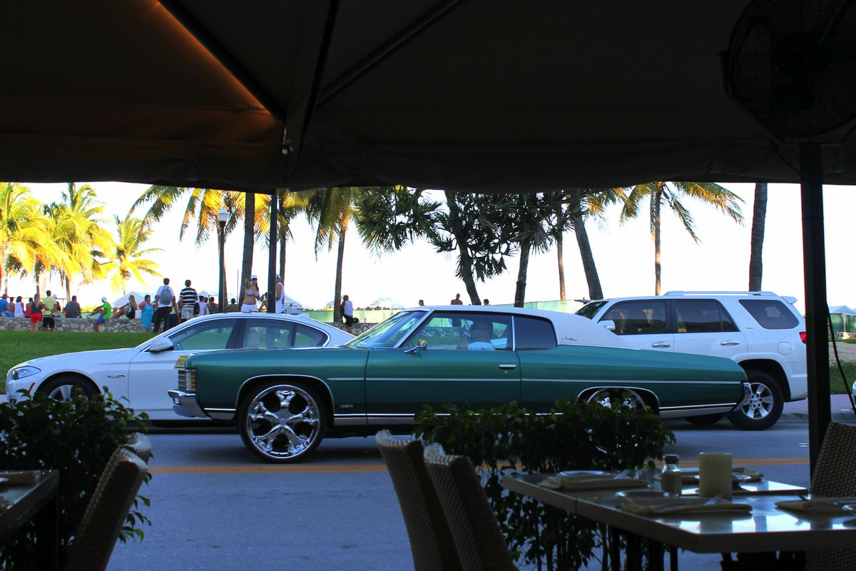 People watching in Miami. Muscle, Beach and Cars. (2)
