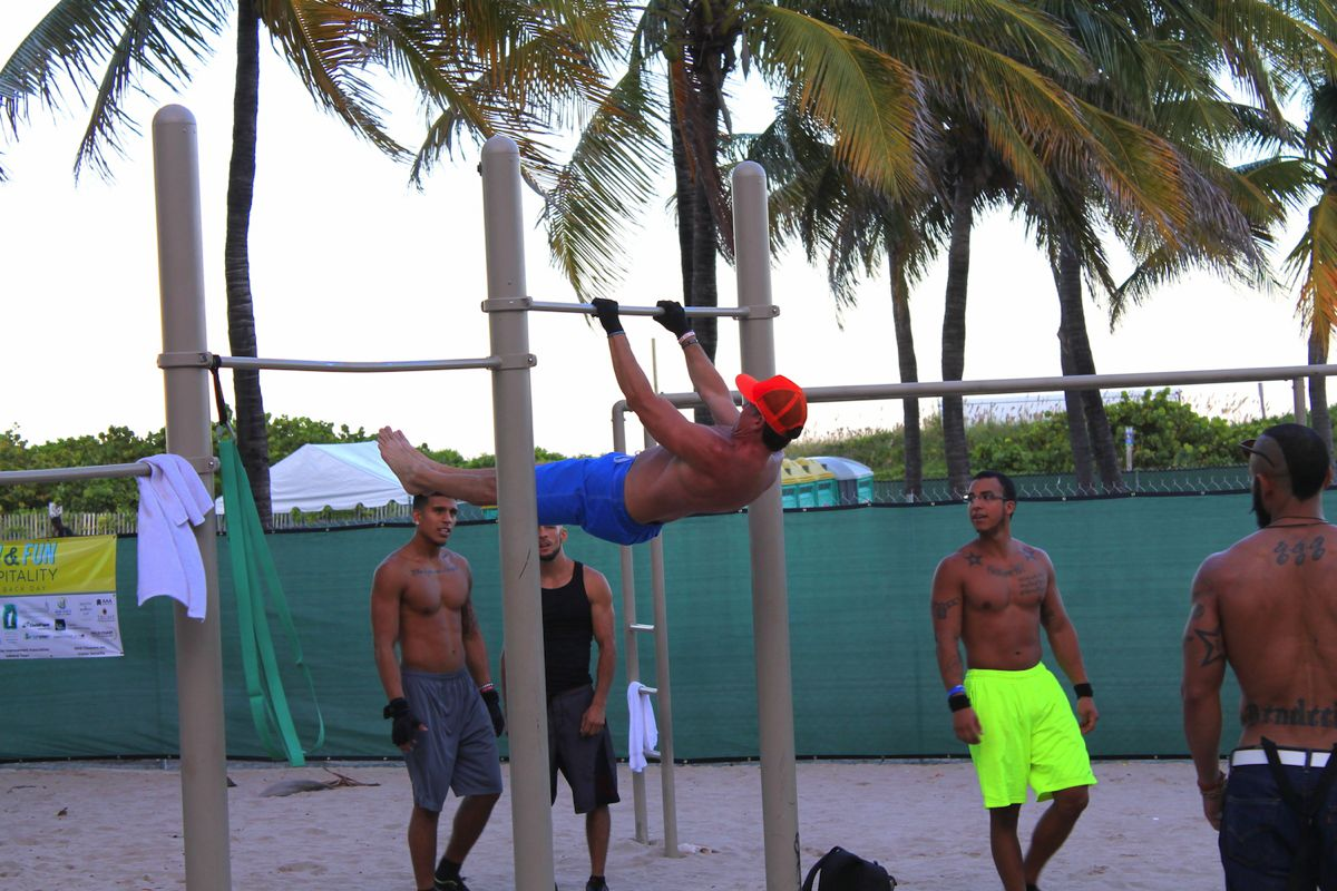 People Watching In Miami Muscle Beach And Cars 7