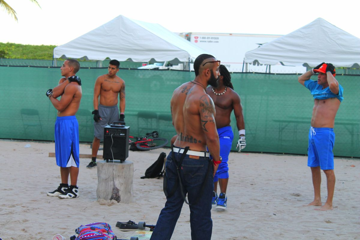 People watching in Miami. Muscle, Beach and Cars. (6)