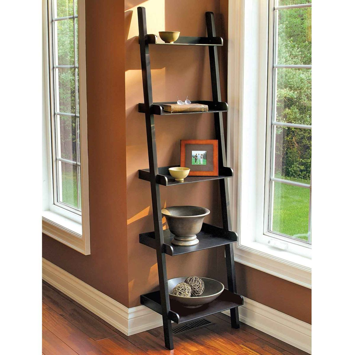 Home Tips: Rustic DIY Ladder Shelf (2)