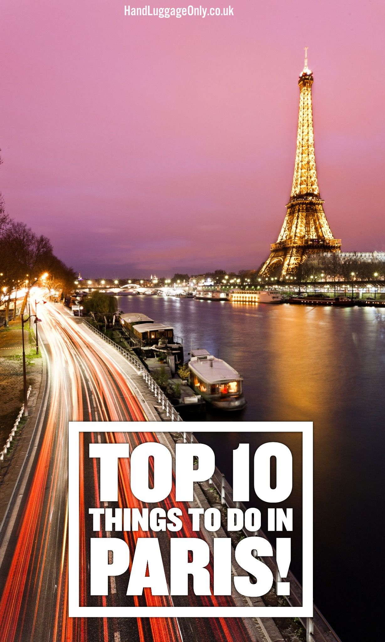 Top 10 things to do in Paris...