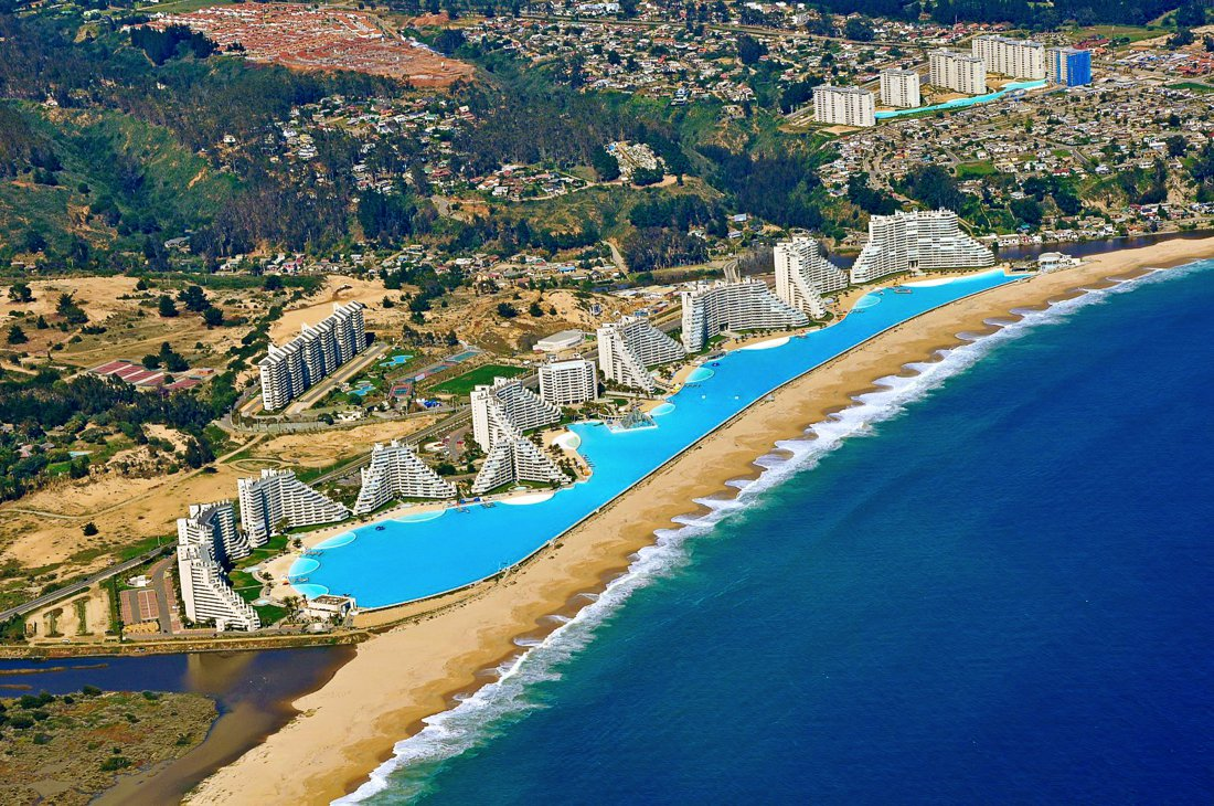 The World 39 S Largest Swimming Pool San Alfonso Del Mar Chile Hand Luggage Only Travel