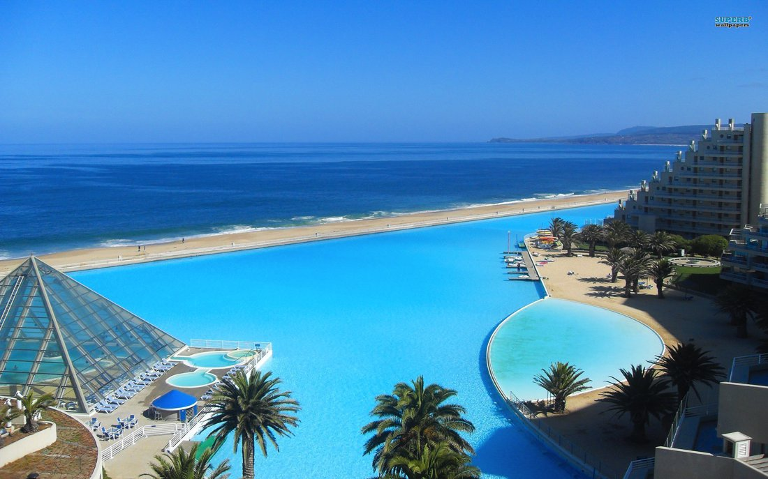 The world 39 s largest swimming pool san alfonso del mar chile hand luggage only travel for San alfonso del mar swimming pool