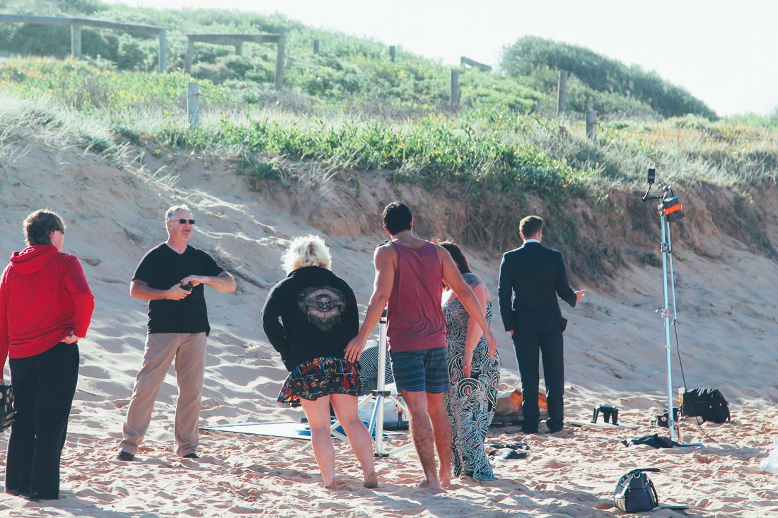 Home and Away Cast and crew on the beach in Palm Beach, Sydney, Australia (4)