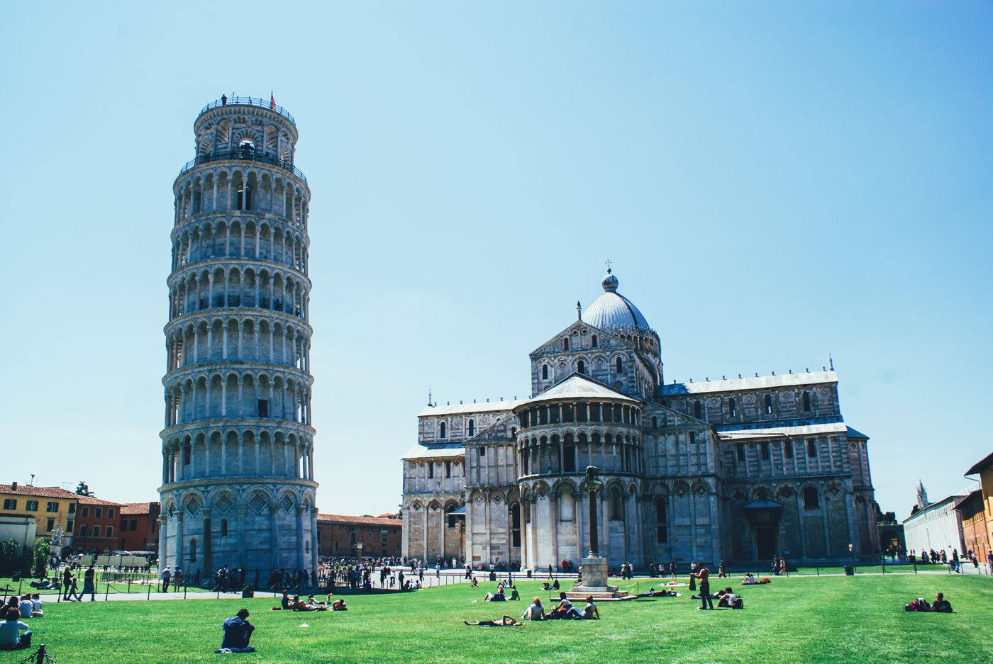 Hopping, Swimming and Leaning in Pisa! Leaning Tower Of Pisa. (8)