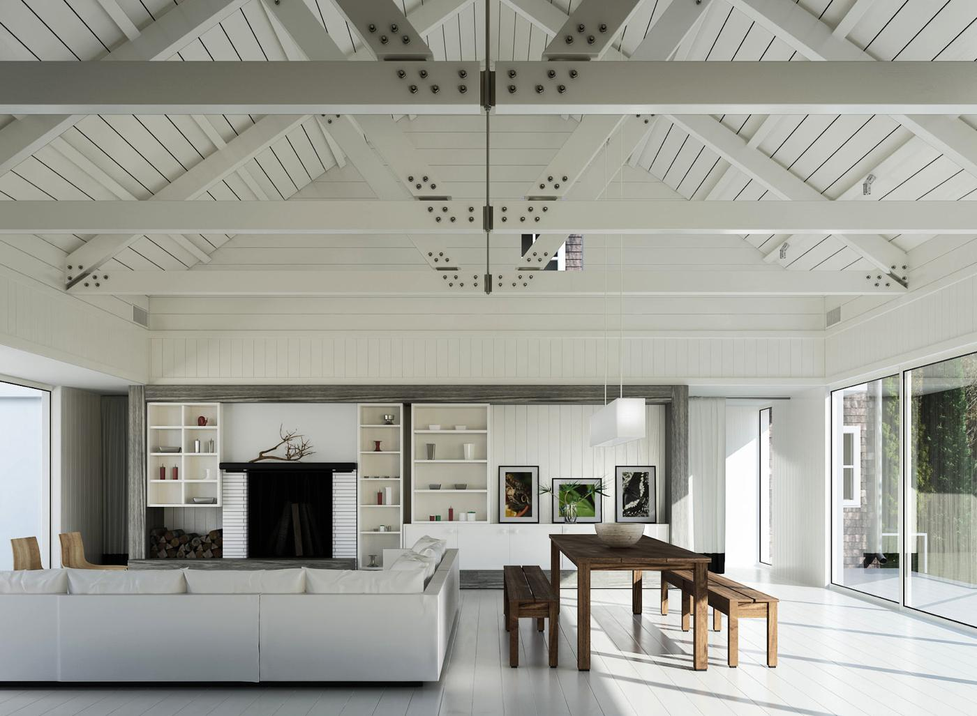 20 Beautiful White Homes To Draw Inspiration From Hand