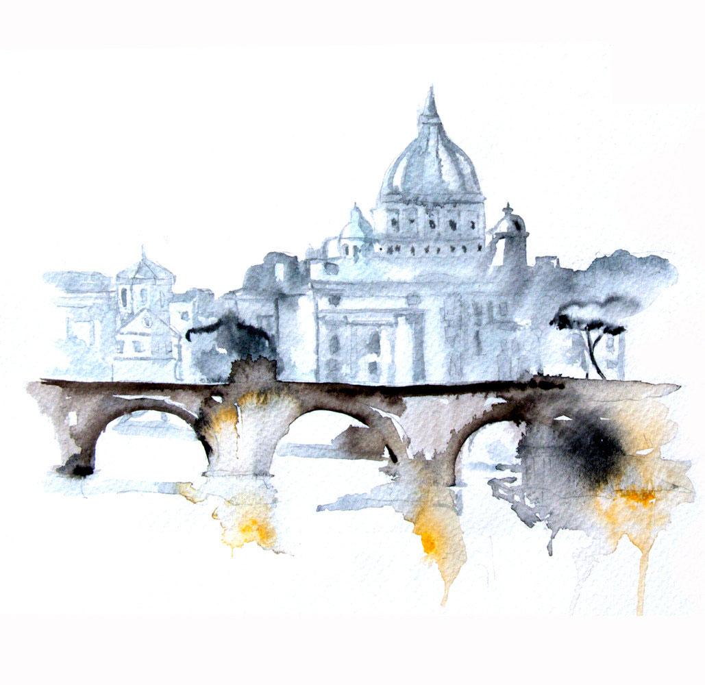 Watercolour Cities by Elena Romanova Artist (7)