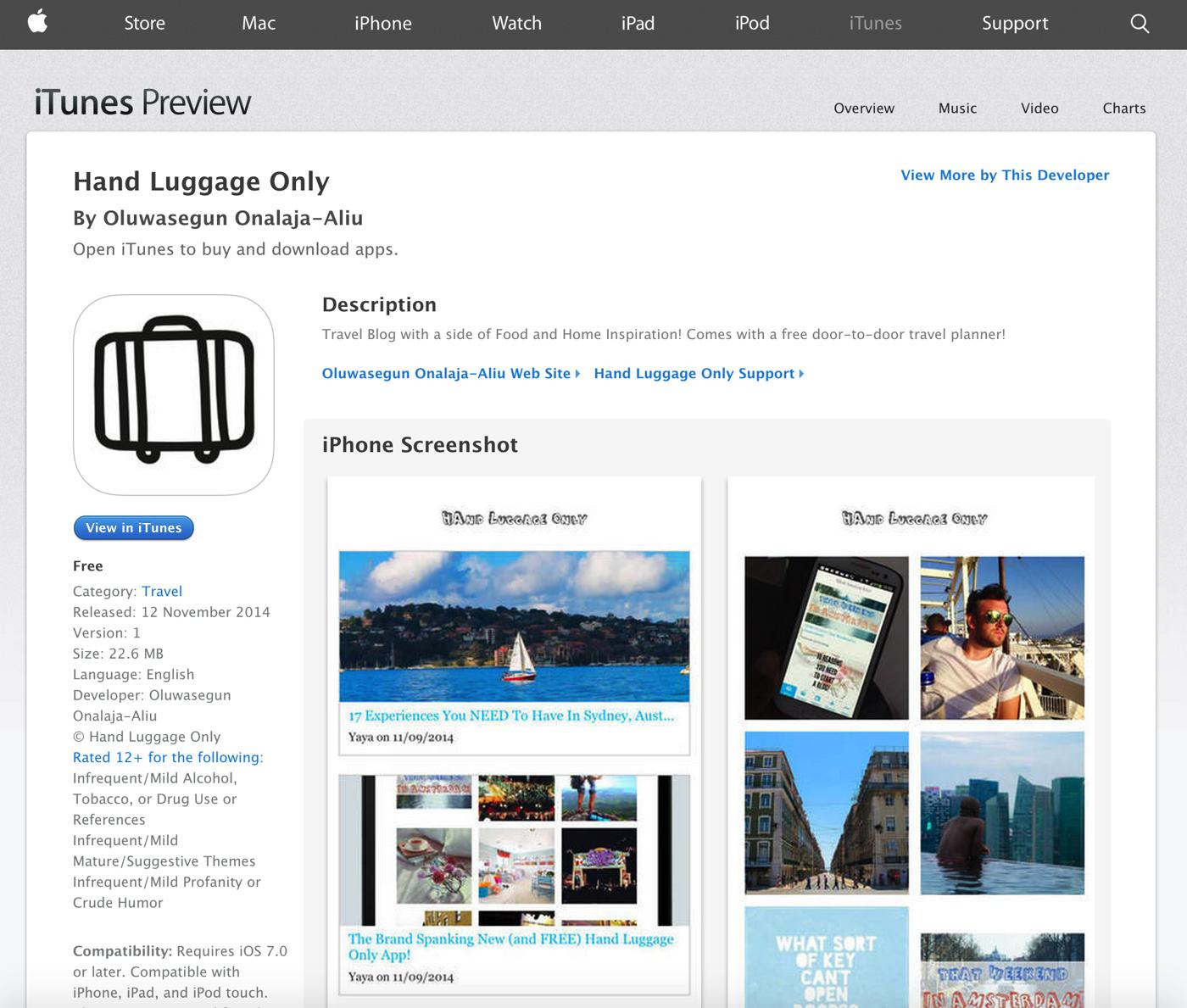 The Hand Luggage Only app is now available on iTunes! - Hand Luggage