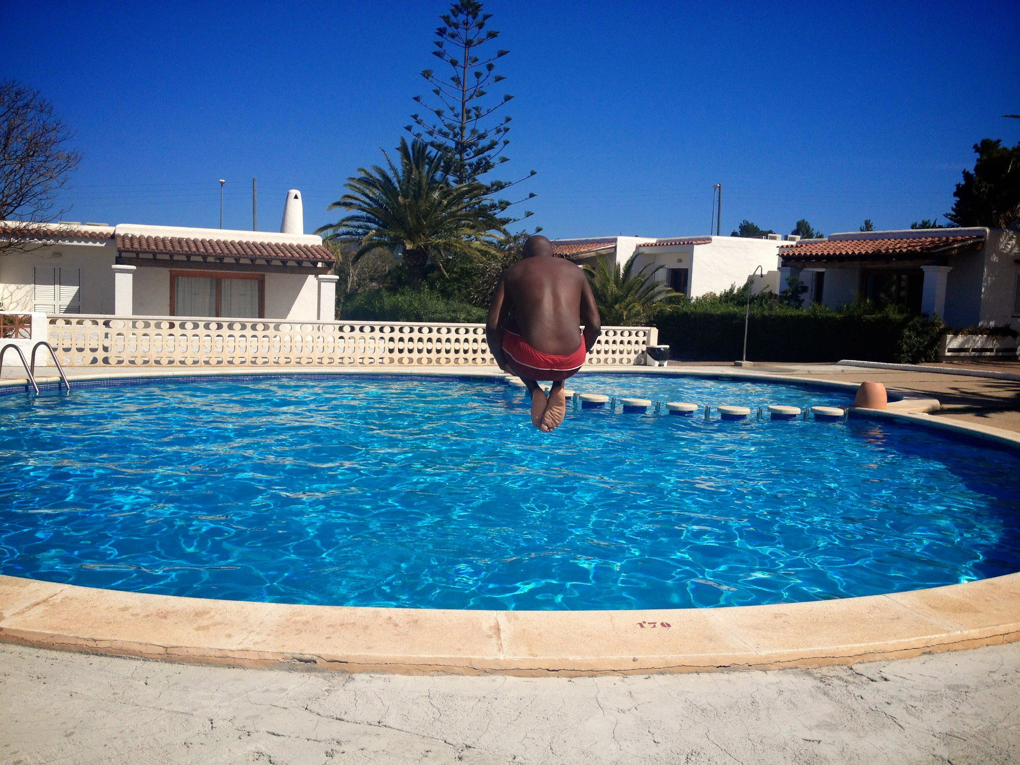 Sunshine, Sangria, Pool Diving, Friends, Fun in Ibiza, Spain on Holiday (1)