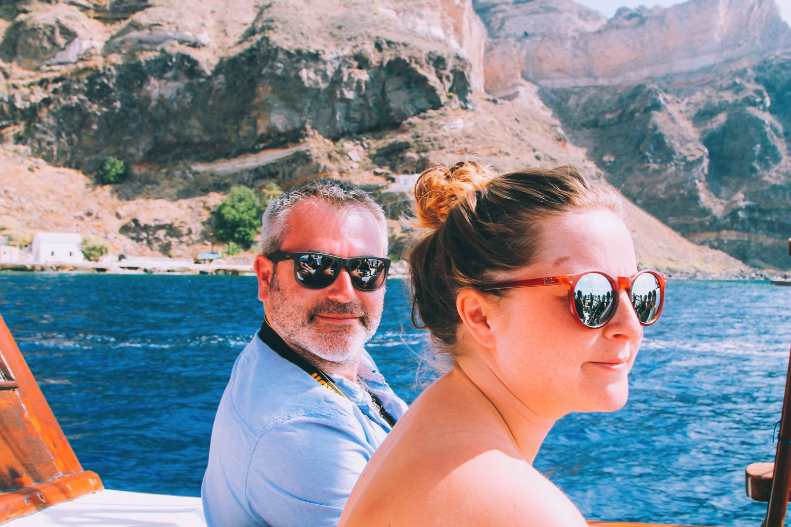Conquering Volcanos in Santorini, Caldera, Sailing, Boat Trip, Greece (11)