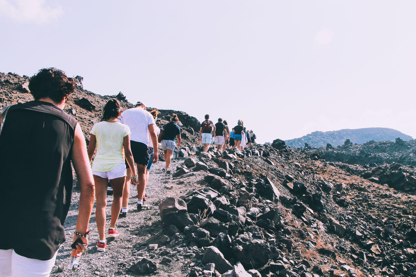 Conquering Volcanos in Santorini, Caldera, Sailing, Boat Trip, Greece (20)
