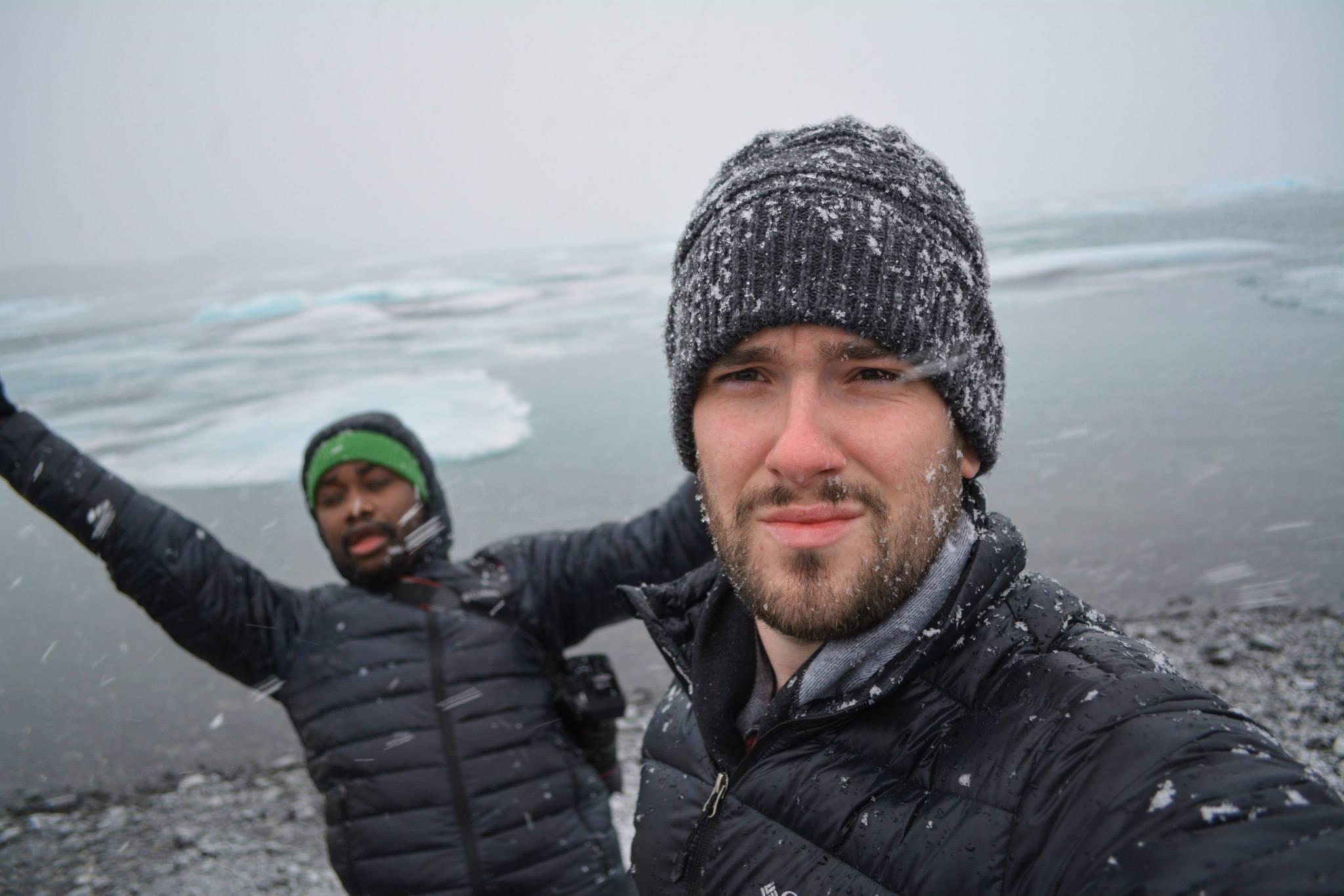 Lloyd and Yaya at Jökulsárlón - The Glacier Lagoon in Iceland