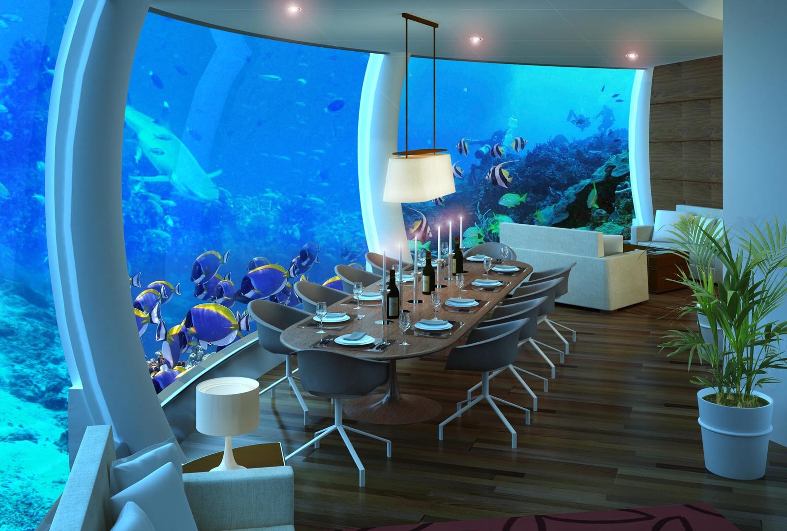 4 Amazing Underwater Hotels You Need To Stay In! (3)
