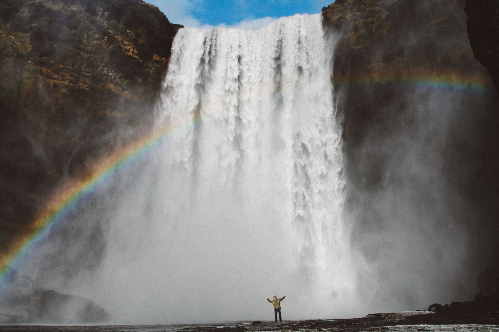 Seljalandsfoss and Skógafoss Waterfalls in Iceland plus Icelandic Lamb and rainbows (43)