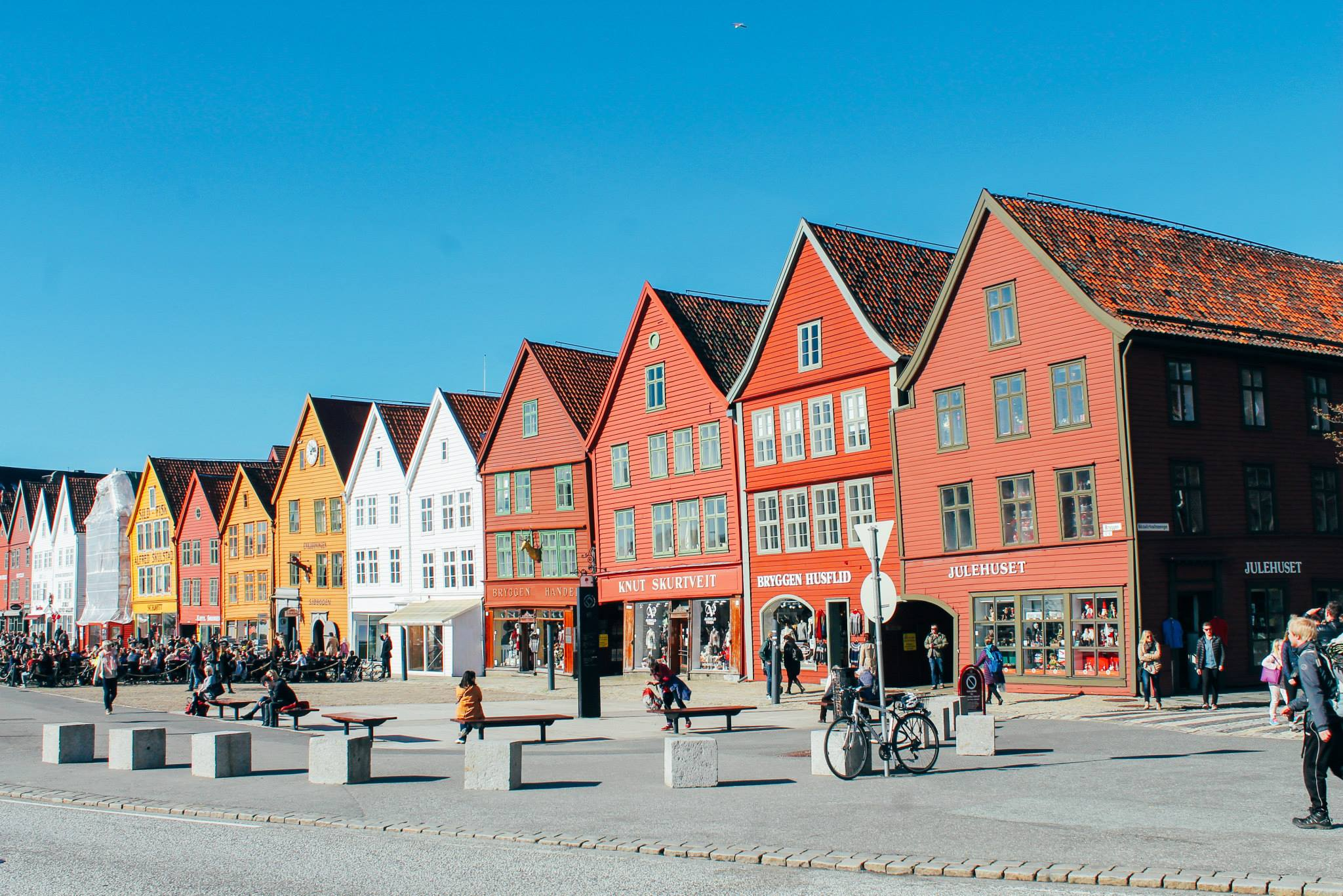 The UNESCO World Heritage Site of Bryggen... In Bergen, Norway. (19)