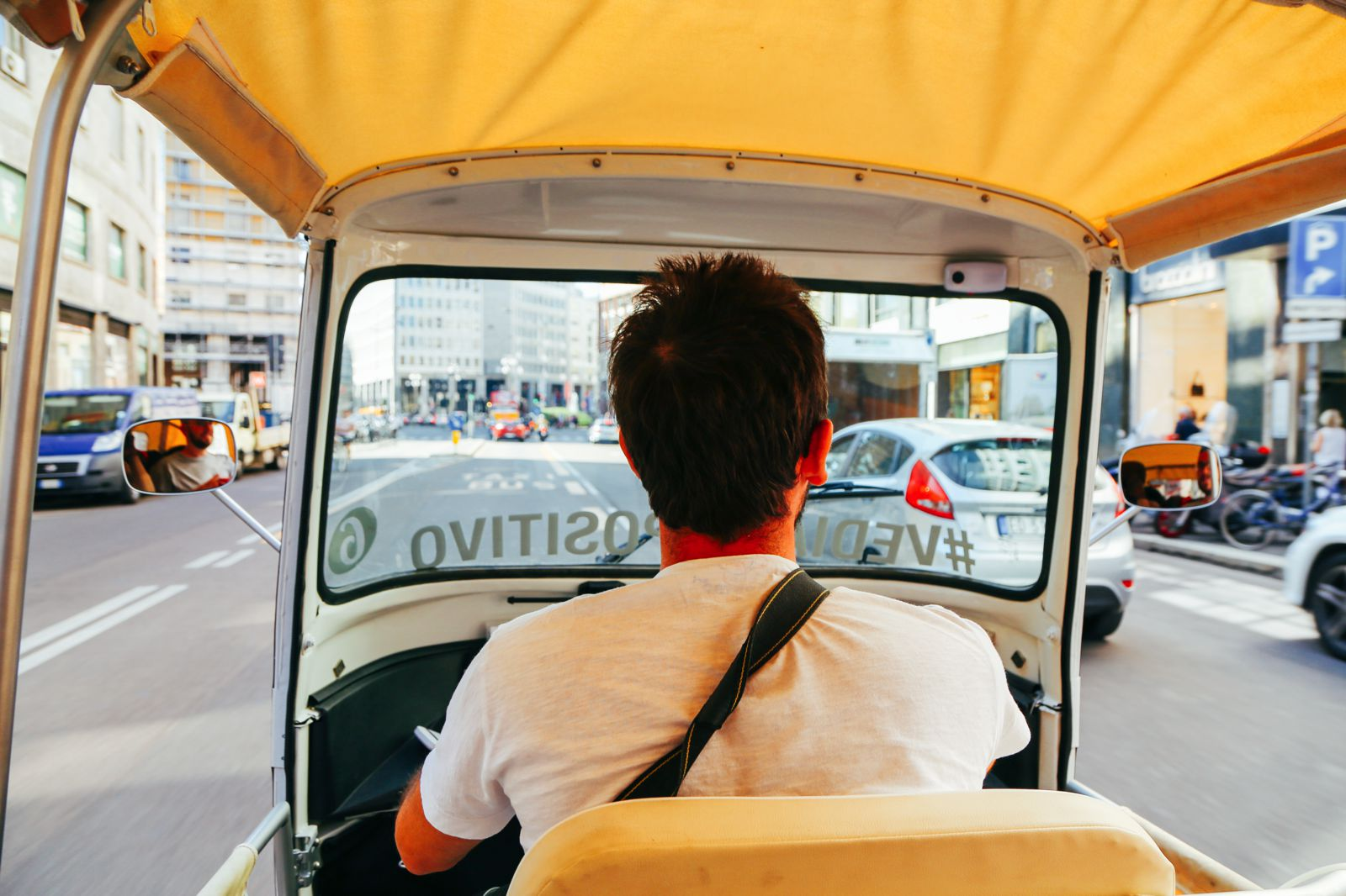 Arrival in Milan - Italy On A Rickshaw... (10)