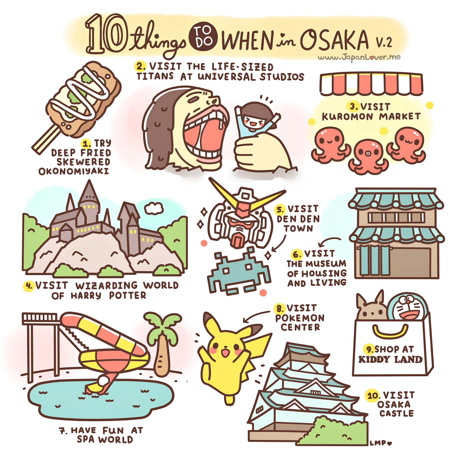 10 Things To Do In Osaka, Japan
