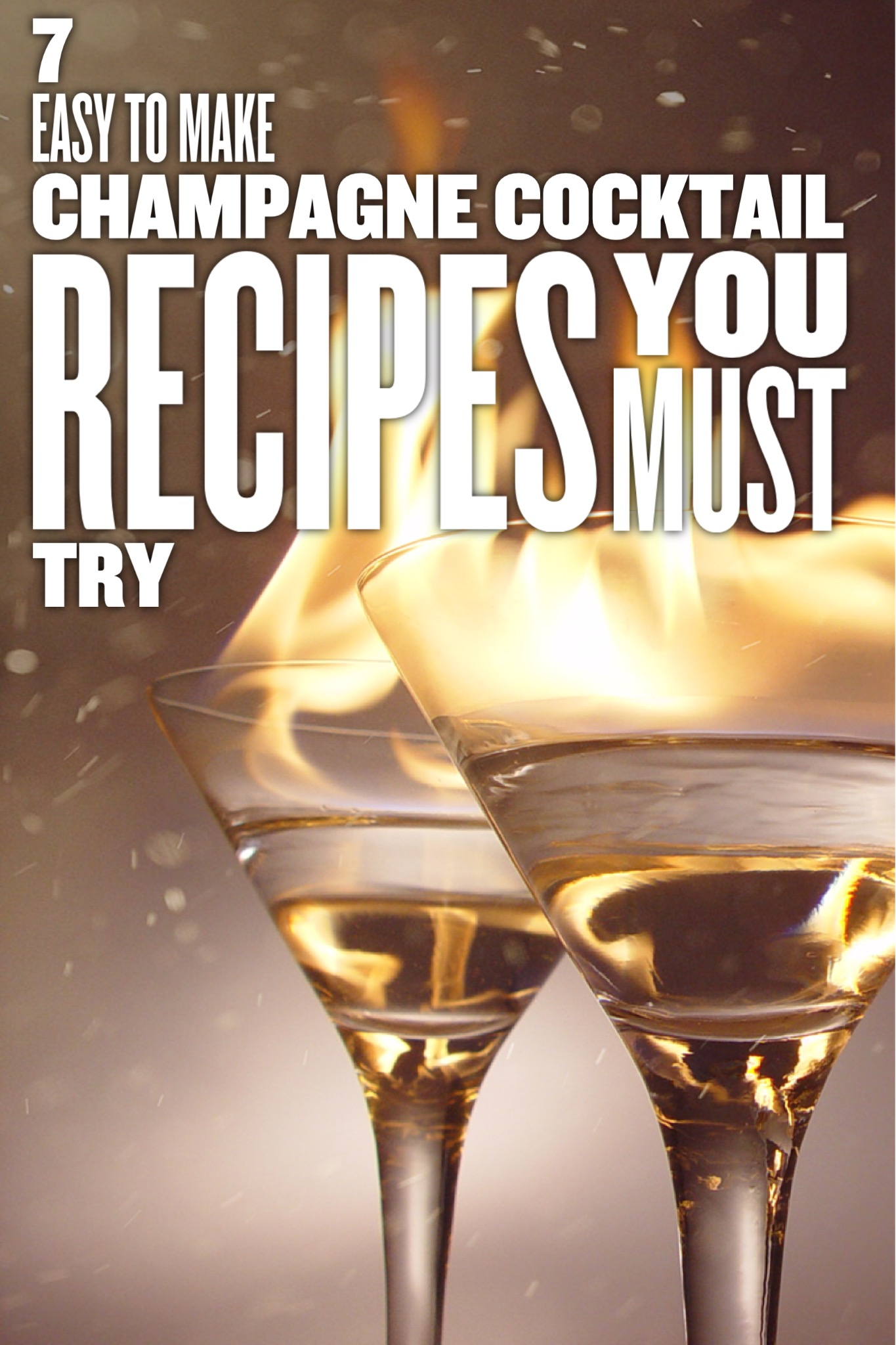 7 Easy Champagne Cocktail Recipes You Need For Your Next Party!