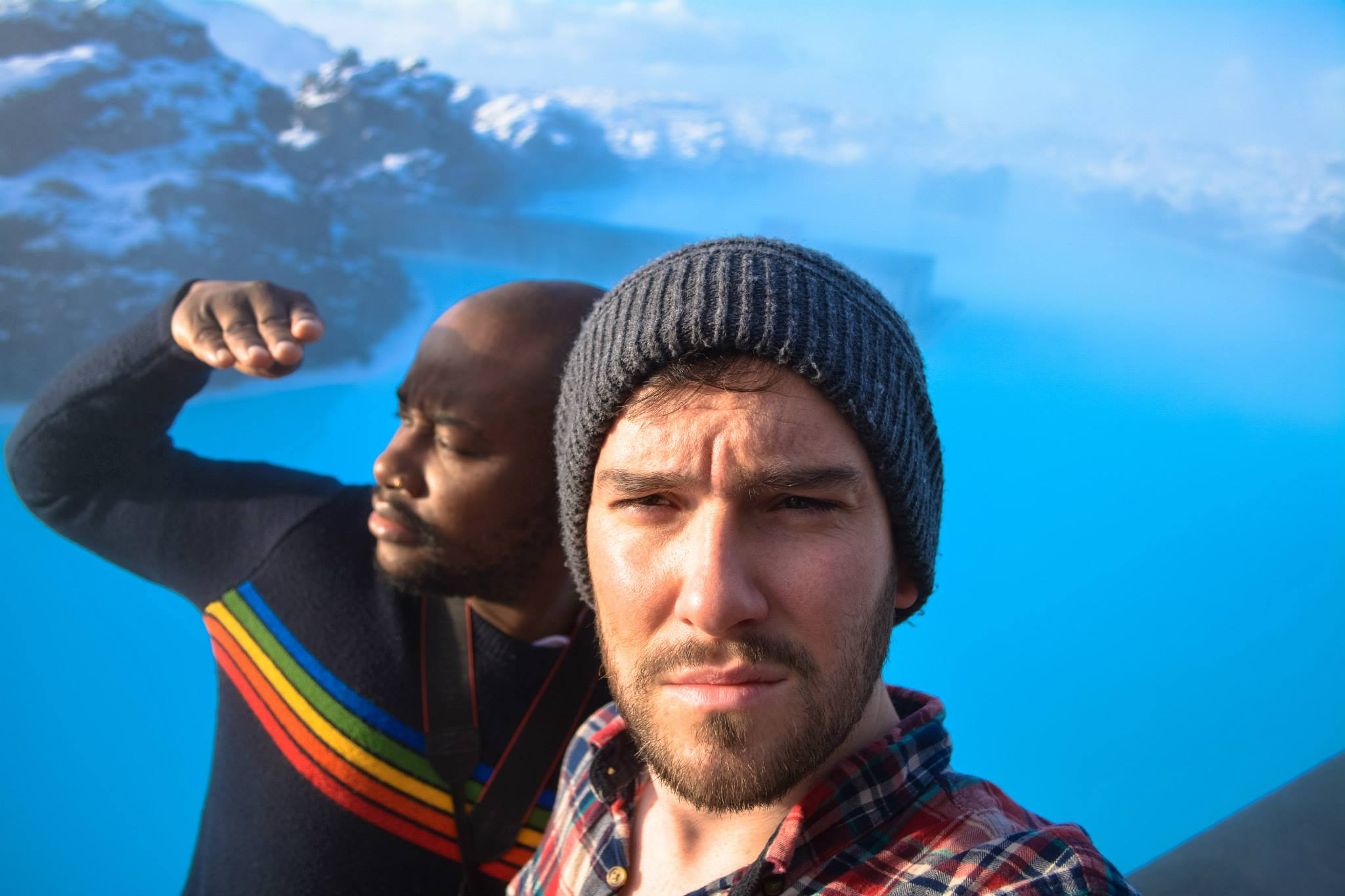 Lloyd and Yaya in The Blue Lagoon, Iceland