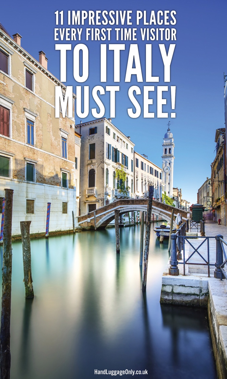 places to see in Italy first time visit