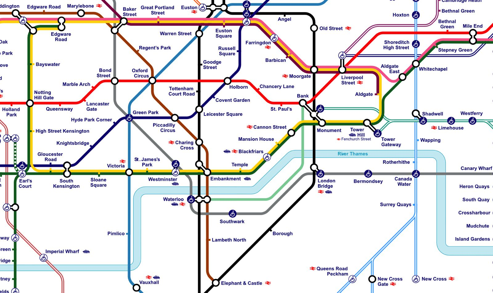 This Alternative London Underground Map Shows You What To See At – Map of Central London Areas