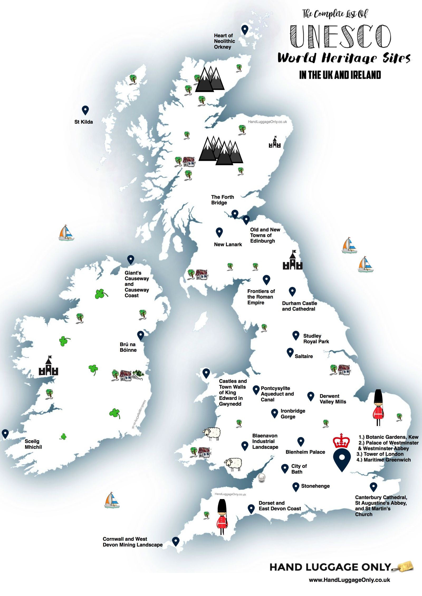 This map shows you where to find every unesco world heritage sites unesco world heritage sites in the uk and ireland gumiabroncs Gallery