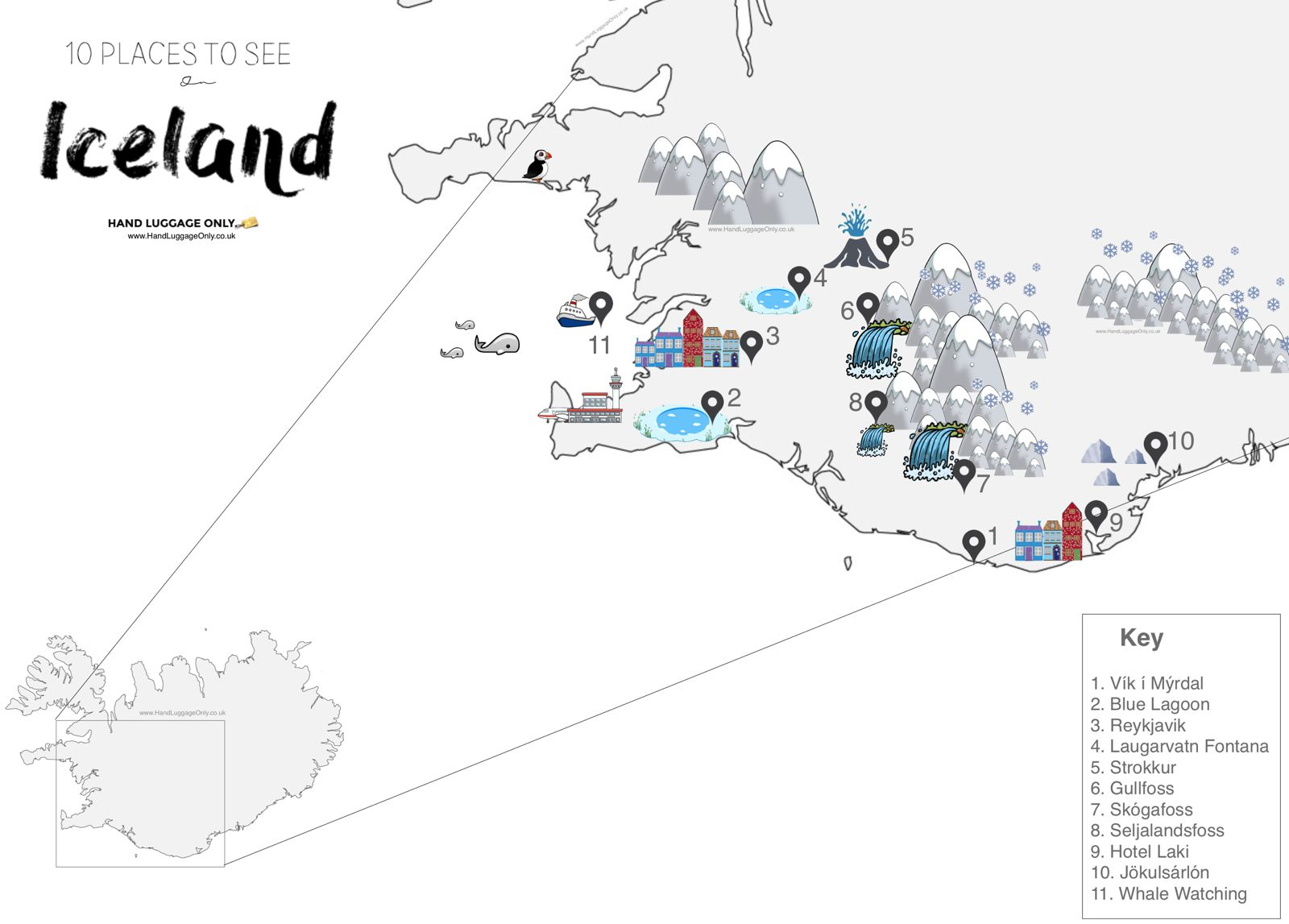 This alternative map of iceland shows you the amazing places you 11 first time experiences you should have in iceland 2 gumiabroncs Image collections