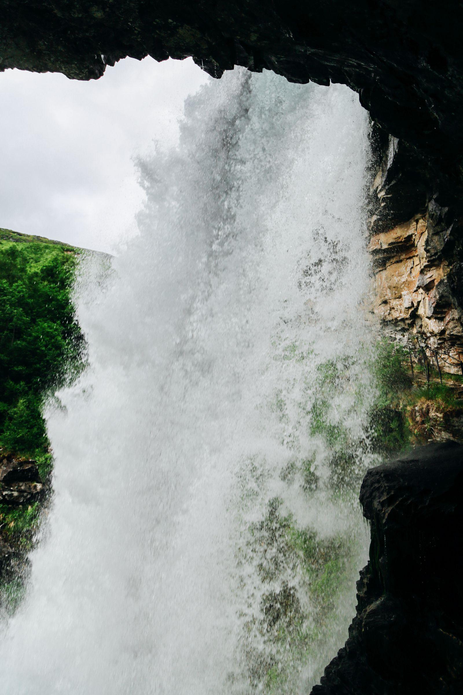 Exploring Storseterfossen Waterfall - A Waterfall In Norway You Can Walk Behind! (24)
