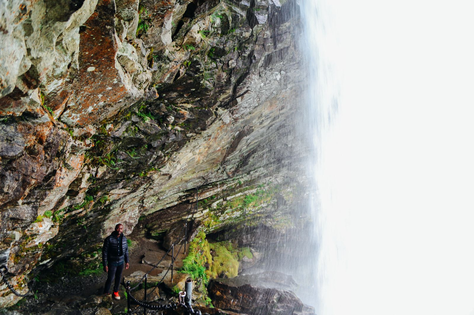 Exploring Storseterfossen Waterfall - A Waterfall In Norway You Can Walk Behind! (26)