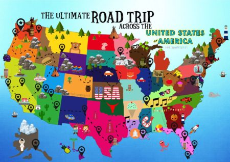 The Ultimate Road Trip Map Of Things To Do In The USA (3)