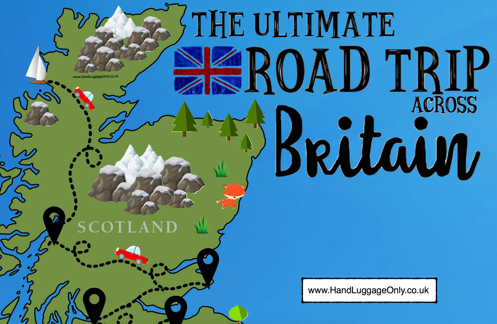 The Ultimate Road Trip Map of 26 Places To See Across Great Britain ...