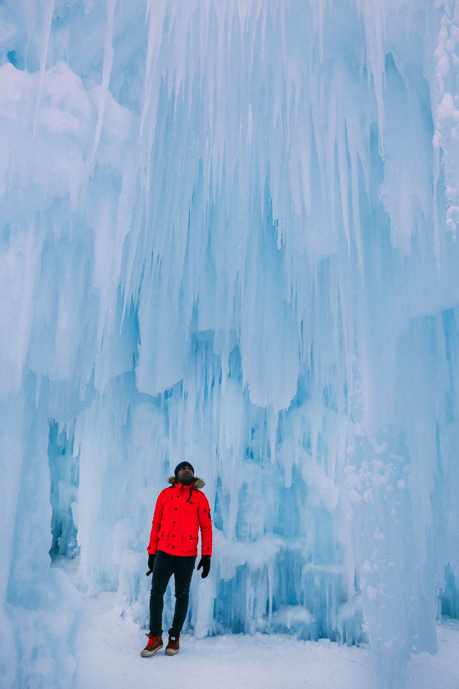 Fat Biking Across The Frozen River Valley To The Ice Castles Of Edmonton, Canada (36)
