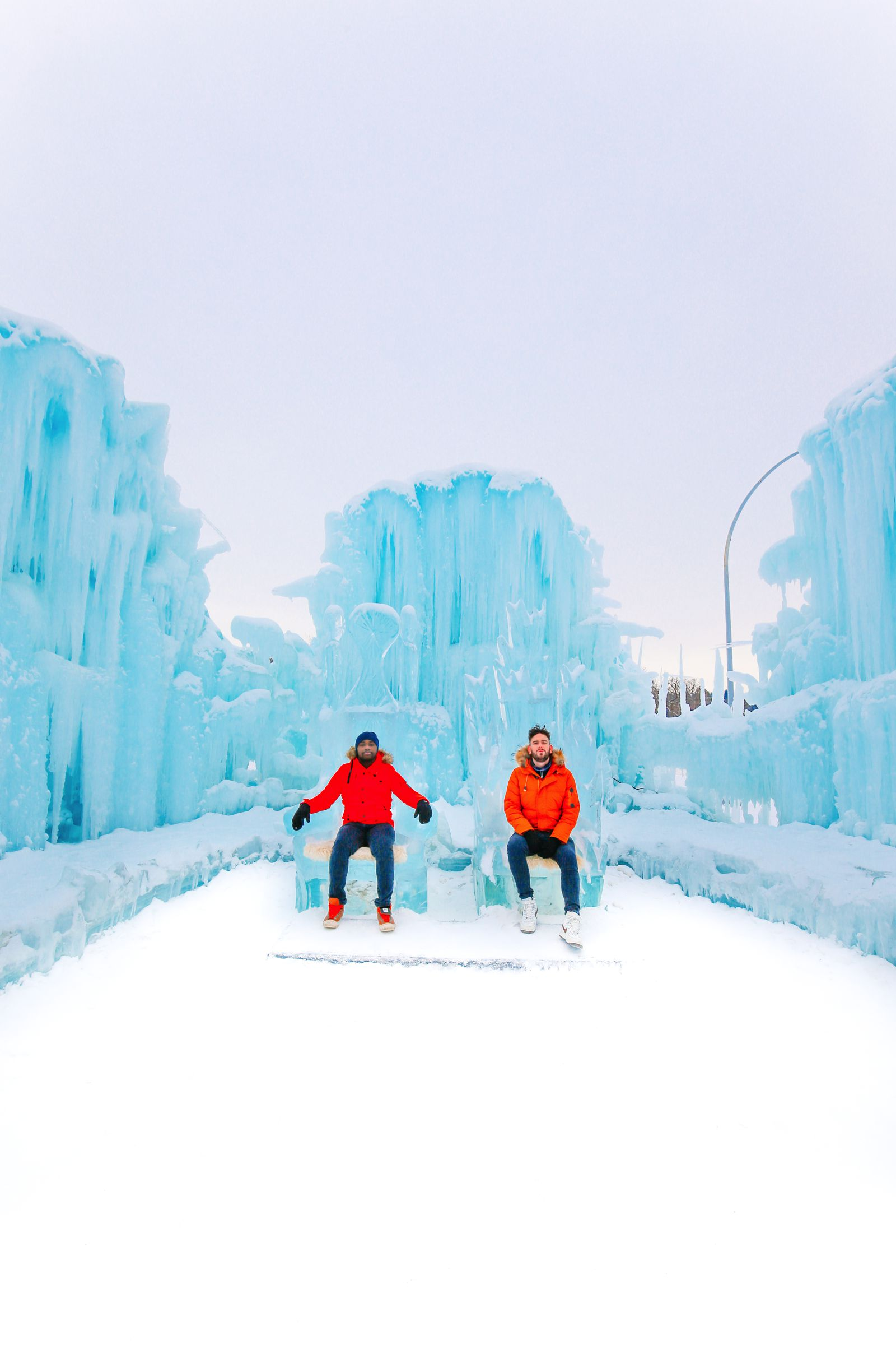 Fat Biking Across The Frozen River Valley To The Ice Castles Of Edmonton, Canada (55)