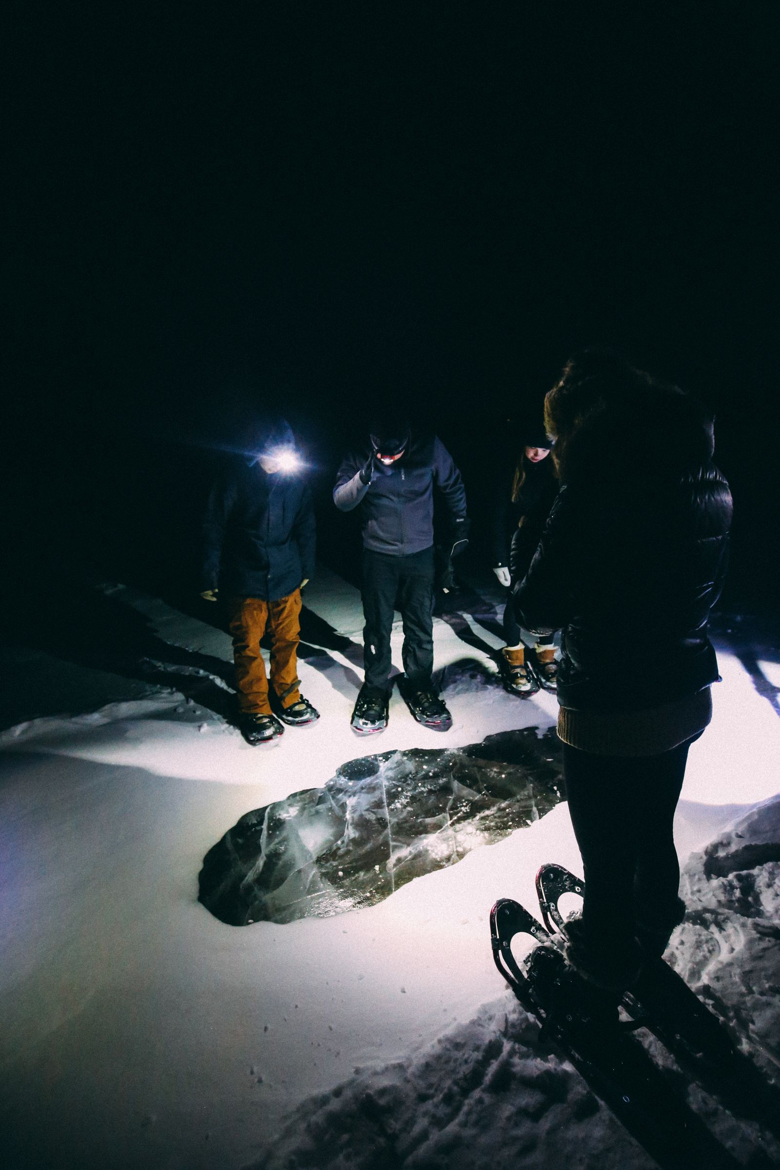 Midnight Moonlight Snowshoeing... In Edmonton, Canada (44)