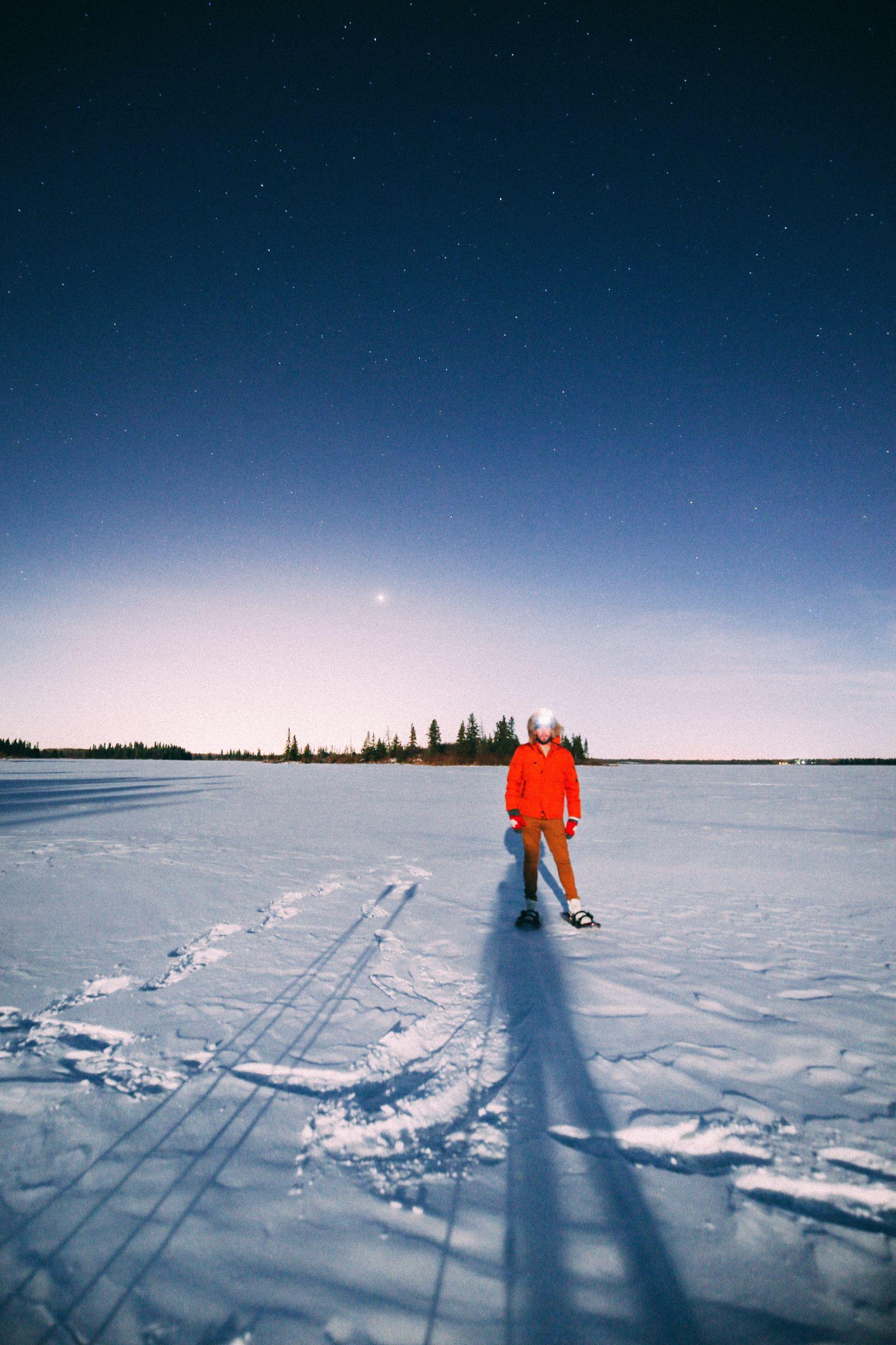 Midnight Moonlight Snowshoeing... In Edmonton, Canada (47)