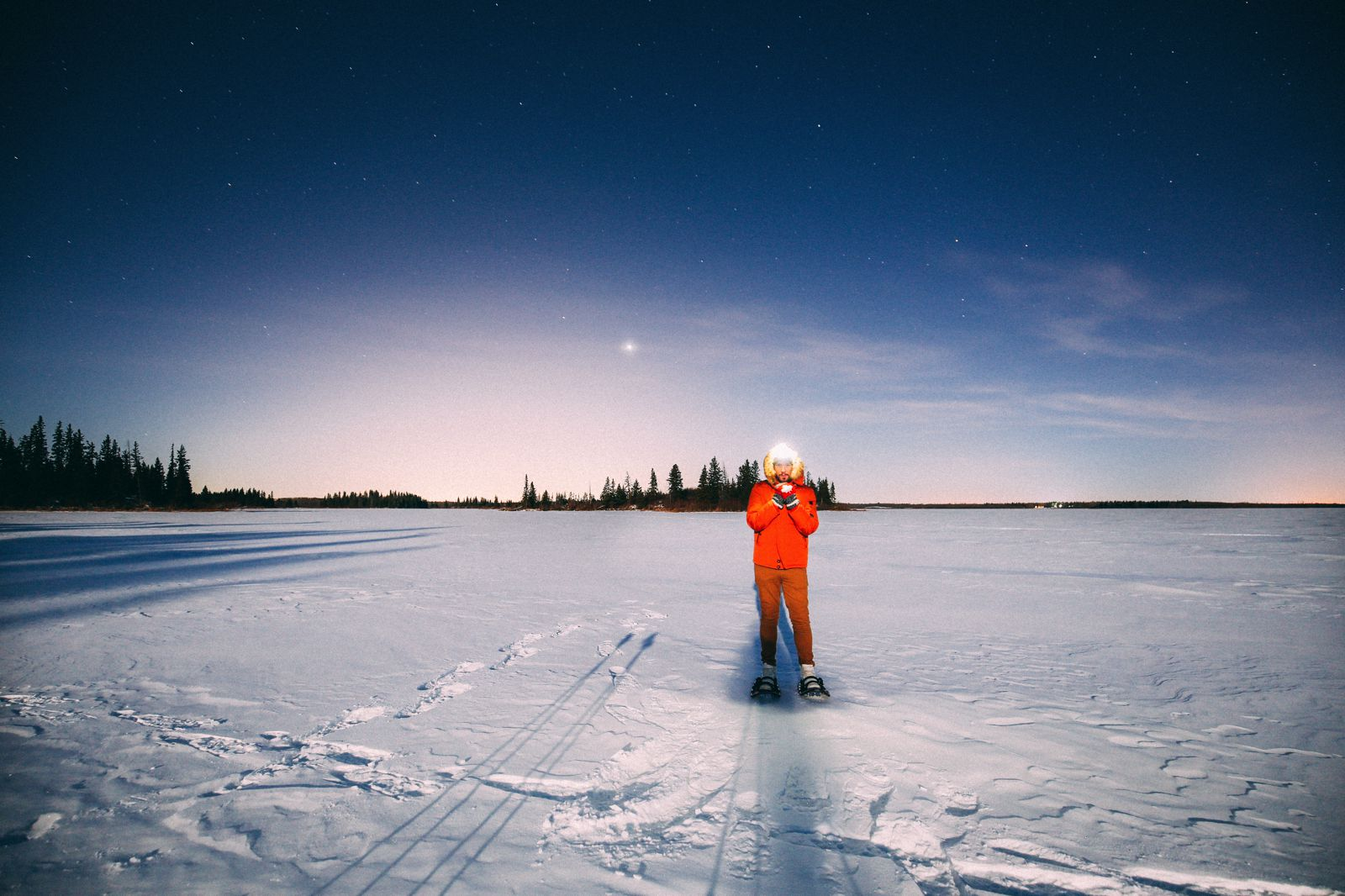 Midnight Moonlight Snowshoeing... In Edmonton, Canada (48)