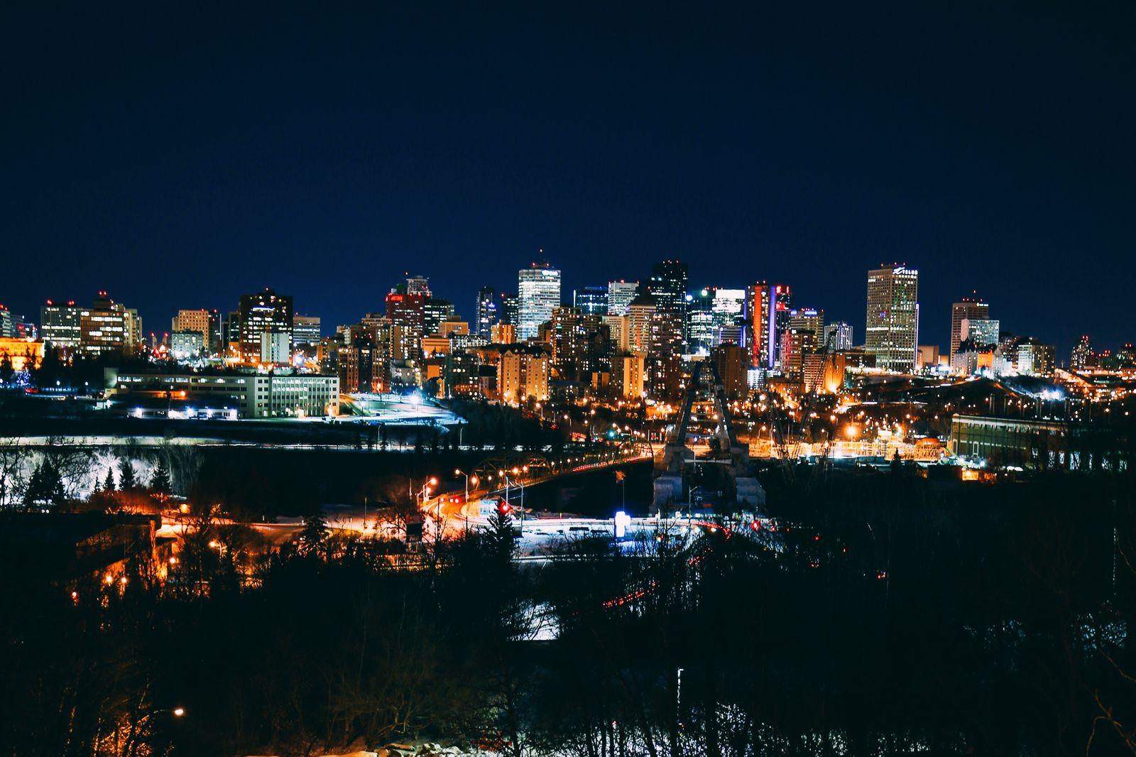 Midnight Moonlight Snowshoeing... In Edmonton, Canada (53)