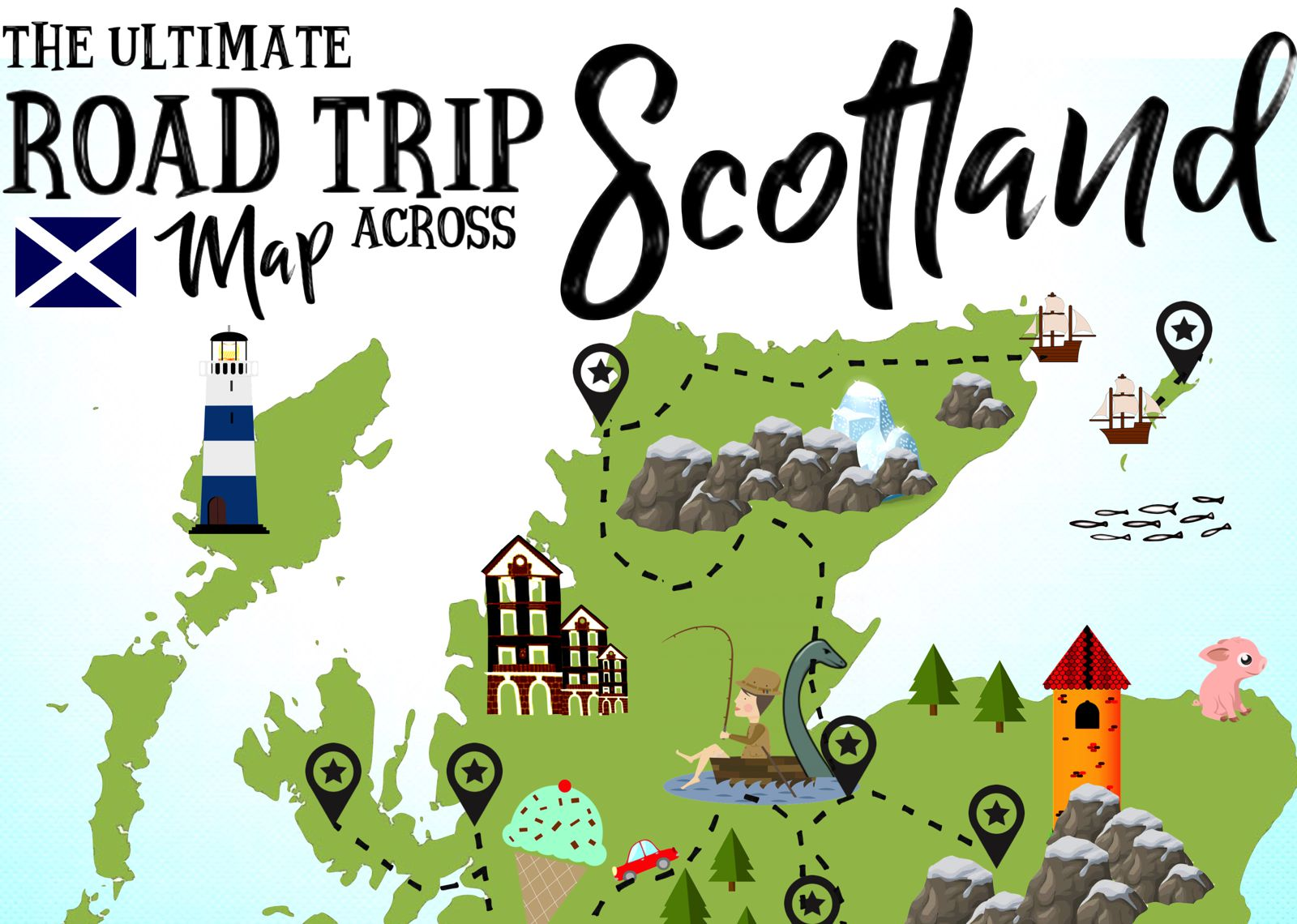The Ultimate Map Of Things To See When In Scotland on My Country Study