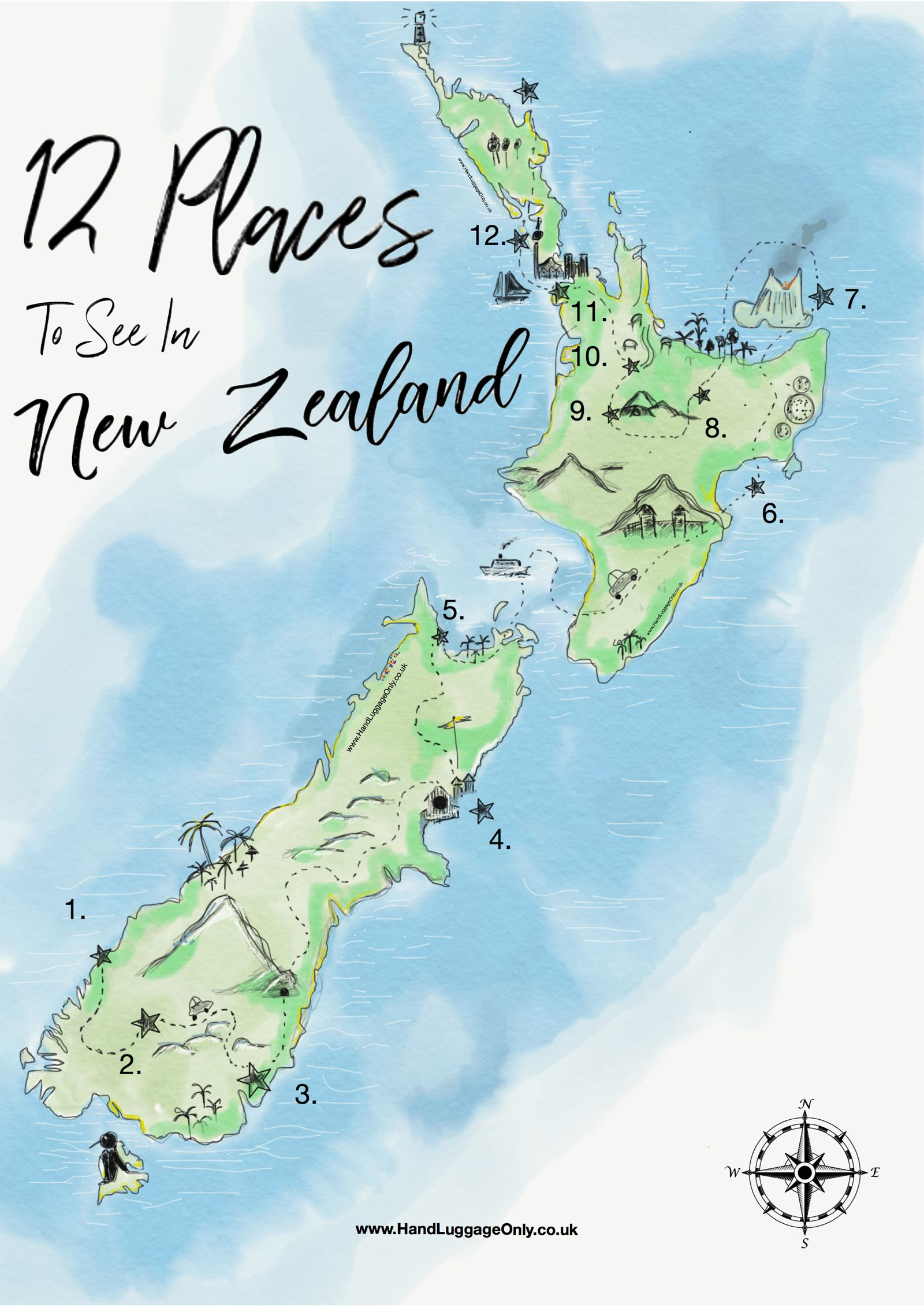 12 Places You Need to Visit On A Trip Across New Zealand - Hand ...