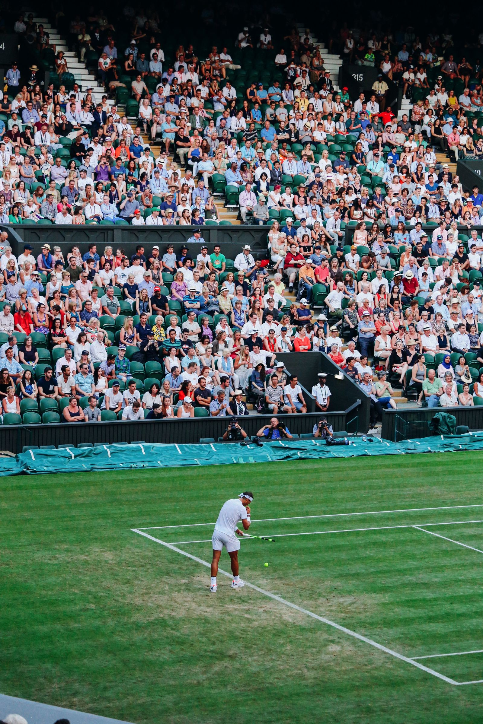 A DAY IN WIMBLEDON... || Watching Andy Murray, Rafael Nadal and Johanna Konta's Tennis Matches (42)
