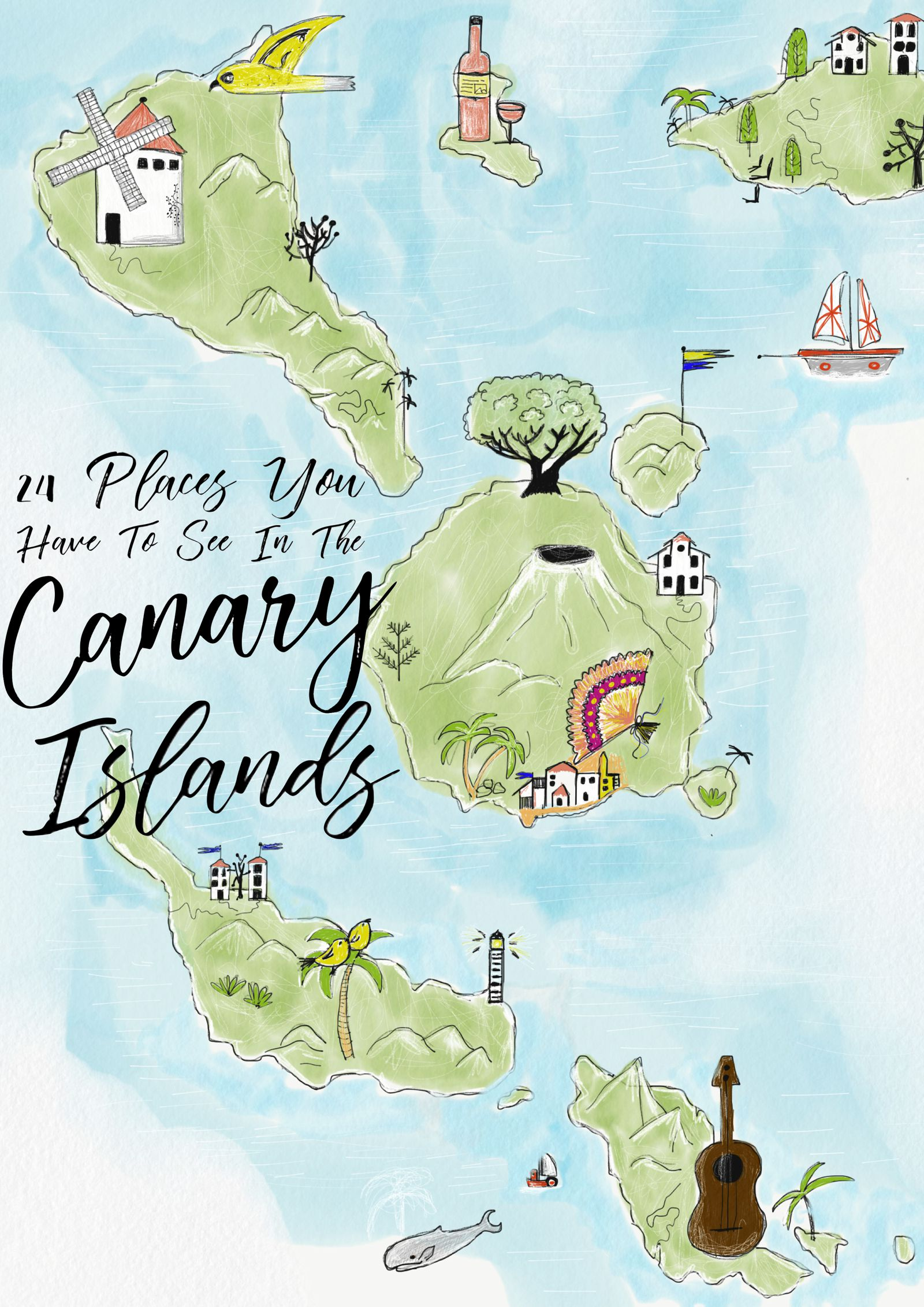 24 things to see and do in the canary islands hand luggage only map canary islands gumiabroncs Image collections