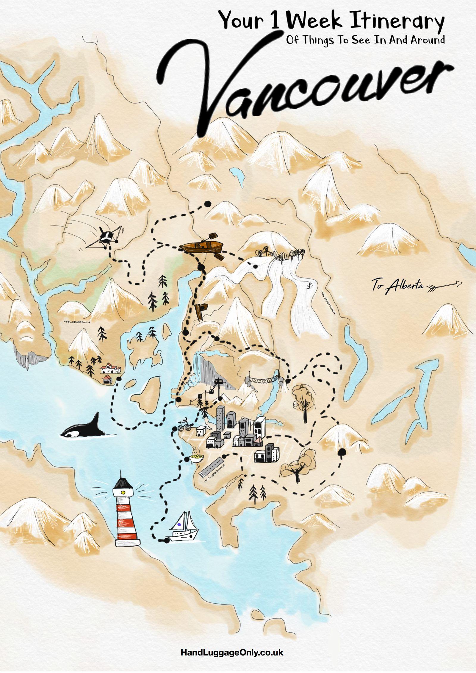 Travel Plan Map on