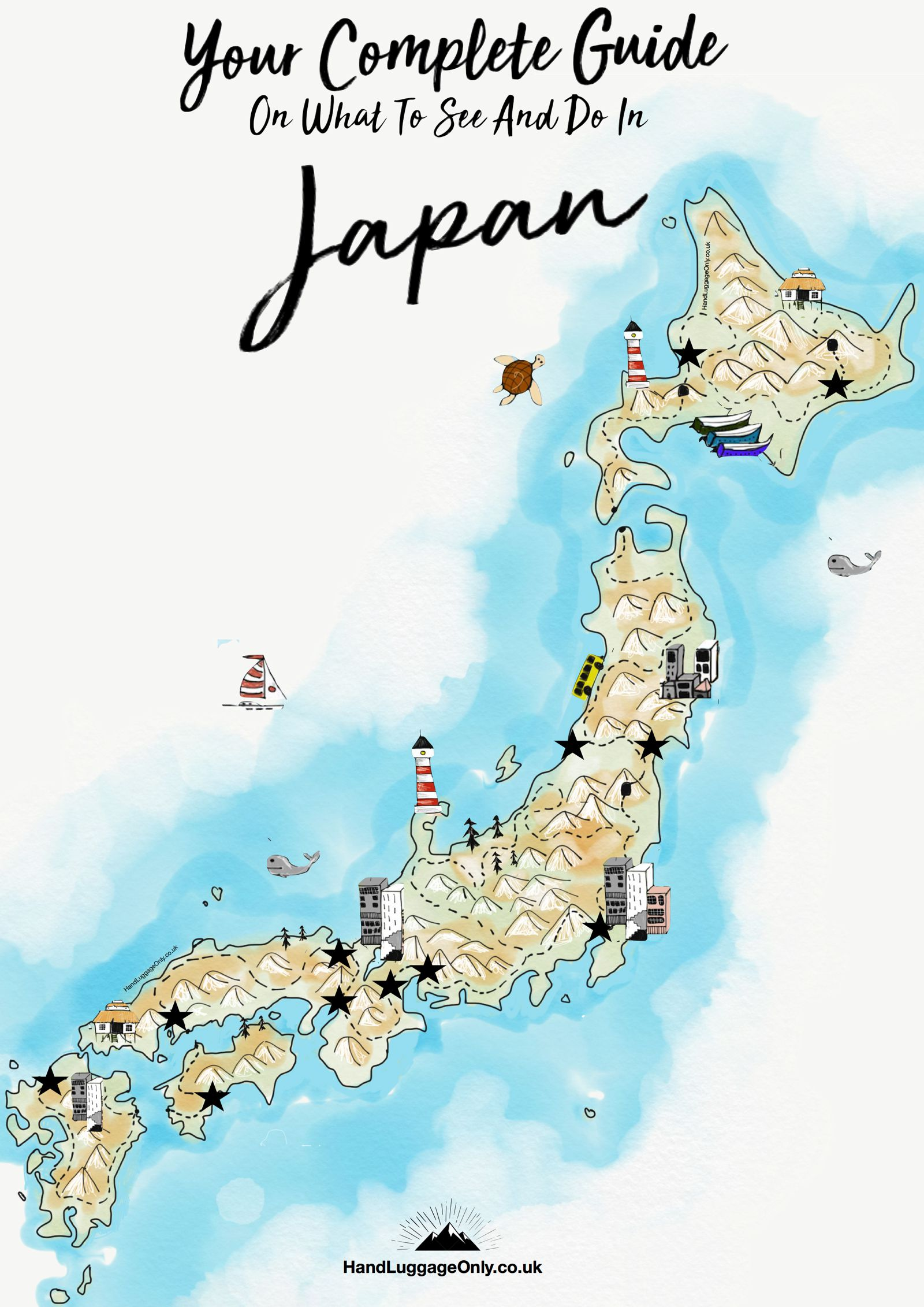 Your Complete Guide On Things To See And Do In Japan Hand - Japan uk map