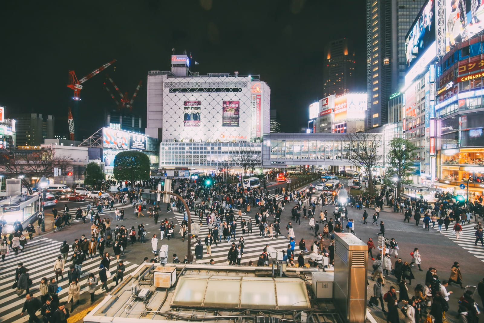 The Famous Shibuya Crossing And Dancing Robots... In Tokyo, Japan (14)