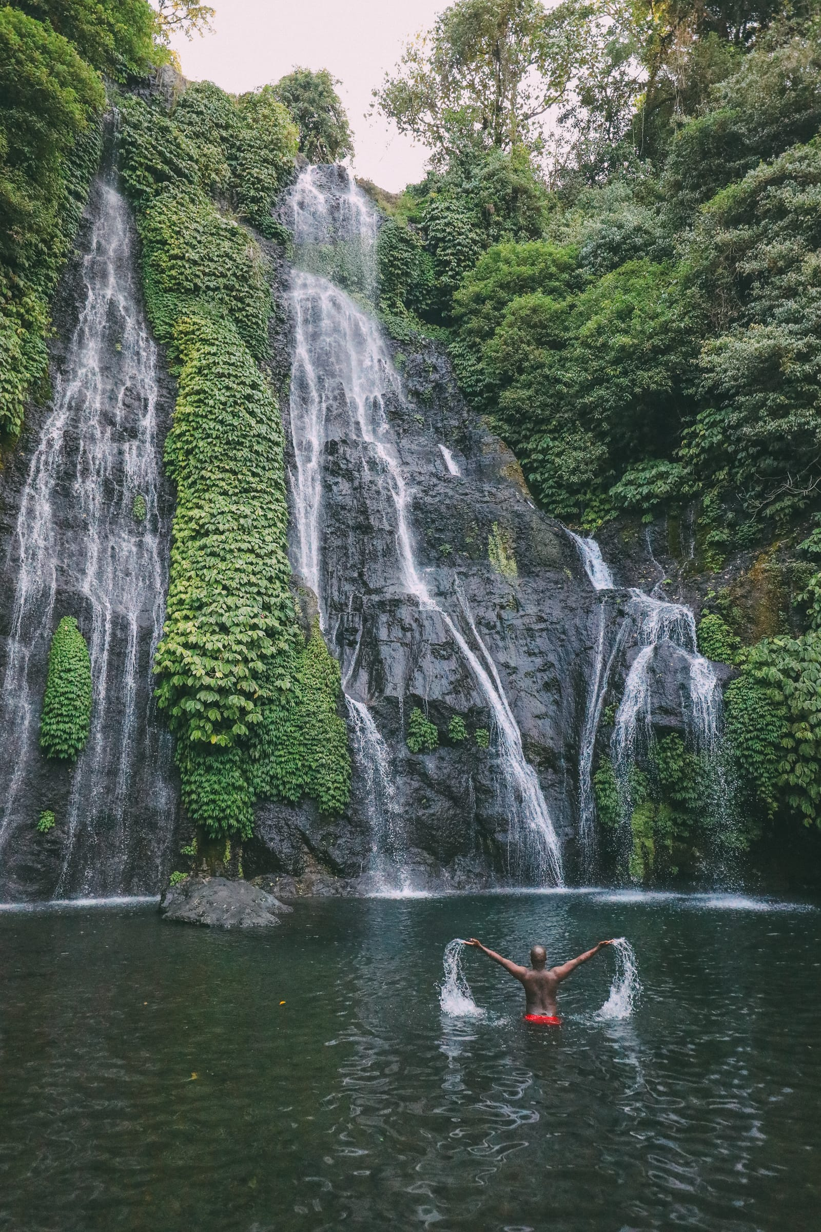 The Amazing Banyumala Twin Waterfalls In The Jungles Of Bali (17)