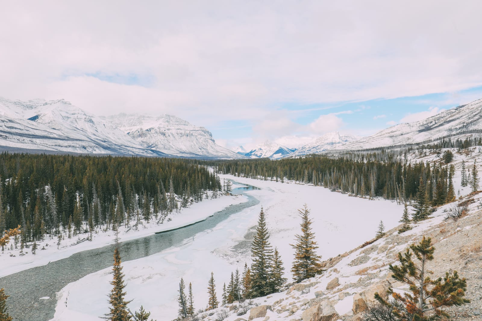 Driving Canada's Epic Icefields Parkway And Finding The Frozen Bubbles Of Abraham Lake (15)